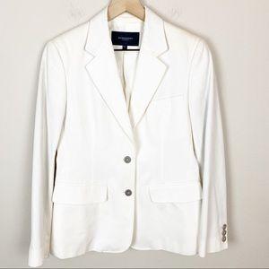 Burberry London White Novelty Interior Blazer 8